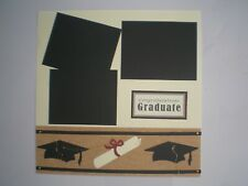 Graduation 1 #803 premade scrapbook pages