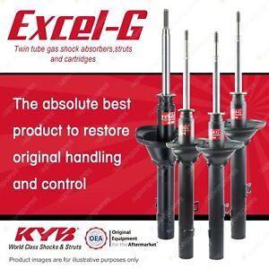 Front + Rear KYB EXCEL-G Shock Absorbers for HONDA Civic SL EN1 1.3 I4 FWD Hatch