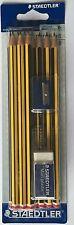 10 X Staedtler Noris hbpencil conjunto & sacapuntas borrador escolar estudiante de arte Pack &