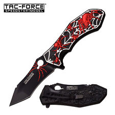 "8"" Red Spider Tac Force Spring Assisted Folding Knife Blade pocket open switch"