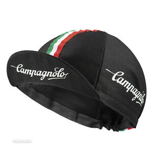 NEW Campagnolo Classic Cycling Cap : BLACK - MADE IN iTALY!