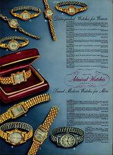 1951 PAPER AD 2 Sided Admiral Wrist Watch Aquare Presentation