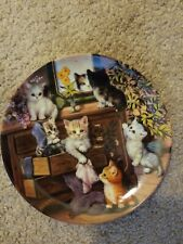 Litter Rascals Sweet Whiskers Bradford Exchange Plate Jurgen Scholz + Coa Cat