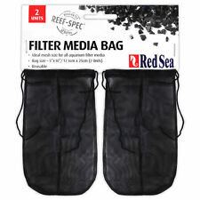 """RED SEA Filter Media Bags (2-pack) 5""""x10"""" for Reef Spec Carbon Marine Fish Tank"""