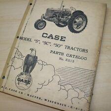 Case S Sc So Series Tractor Parts Manual Book Catalog List Spare Farm E213