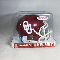 Oklahoma Sooners NCAA Speed Replica Mini Football Helmet Riddell 2014 New In Box