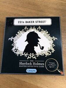GIBSONS 221B BAKER STREET THE SHERLOCK HOLMES DETECTIVE GAME COMPLETE USED