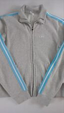Abercrombie & Fitch Track Jacket Womens Medium Sweatshirt Gray Long Sleeve Gym