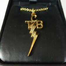 """Elvis Presley Gold  """"TCB"""" Taking Care of Business Pendant and Chain New"""