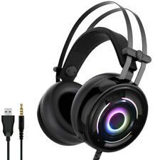 Wired Headset Gaming Headphone Earphone with Mic RGB Light for PC Phone N-switch