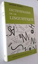 Georges Mounin DICTIONNAIRE DE LA LINGUISTIQUE Dizionario Linguistica