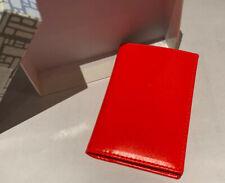 Comme Des Garcons Classic Super FLUO-Orange Leather Card Holder Wallet SA6400SF