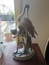 Grande Statut 39 cm Herons De Herend Hungary Handpainted
