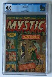 MYSTIC 2 CGC 4.0 PRE CODE HORROR DARK DUNGEON MAN NO FACE ATLAS COMICS 1951 pch