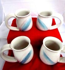 Handcrated  Pottery Coffee Cups Set of 4