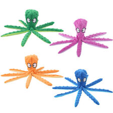 8 Legs Octopus Soft Stuffed Plush Squeaky Pet Dog Squeakers Toy Sounder