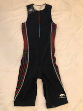Blueseventy triathlon race one piece suit sleeveless padded Men's M Black/red