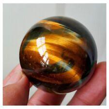 1pc Dark Yellow Asian Rare Tiger Eye Quartz Crystal Healing Ball Sphere Stone