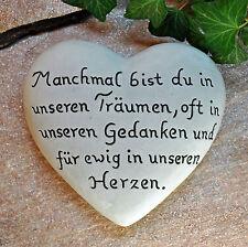 Manchmal bist du…  Herz mit Inschrift 16,5x15 cm   Grabschmuck Grabstein Grab