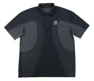 "Greg Norman Men XL 49"" Brookhaven Country Club Golf Polo Shirt Polyester Black"