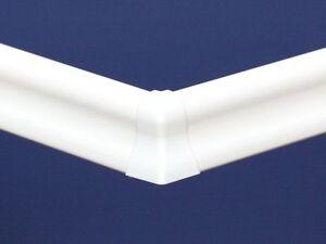 Innenecken, Außenecken, Verbinder, Abschlüsse Ecken Weiß für Sockelleisten 40mm