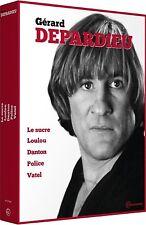 *** COFFRET GERARD DEPARDIEU *** 5 films Le sucre, Police, Vantel, Danton,Loulou