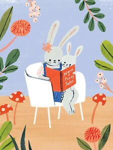 """Papyrus Mother's Day card - """"Warm & Fuzzy Tales"""" Mother Rabbit & Little Bunny"""