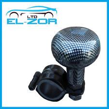 Carbon Fibre Black Steering Wheel Knob Aid Assister Car Van Handle Hand Turning