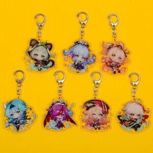 Genshin Impact Ayaka Yoimiya Sayu Rosaria Eula Kazuha Yanfei Acrylic Keychain
