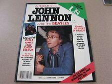 TRIBUTE TO JOHN LENNON AND THE BEATLES /US Pub.1980