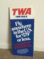 Vintage TWA Timetable July 1- Sept 9 1981 Trans World Routes Flights