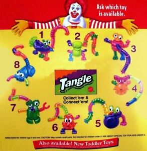 McDonald's 1996 Vintage Nickelodeon Tangle Twist A Zoid-Choose your Favorite!