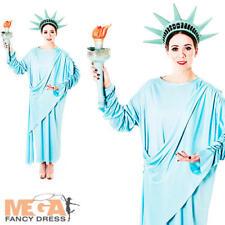 Estatua de la libertad señoras Vestido de fantasía American NY Novedad Adultos Traje de Disfraz