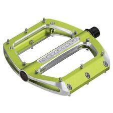 Spank Spoon 110 Platform Pedals Alloy body Steel axle 110 x 105mm Green