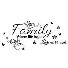 Mural Vinyl Decal Art Family Letter Quote Removable Home Decor Wall Sticker WE9Z