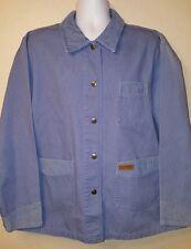 Powder River Outfitters Panhandle Slim Western Jacket Lt. Blue Canvas XL EUC