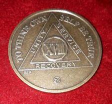 Alcohólicos Anónimos Bronce 18 año sobriedad moneda medalla.