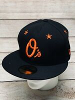 Baltimore Orioles MLB New Era Star Gazer 59FIFTY Fitted Hat Cap 7 1/4 Black
