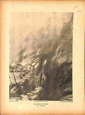 une Attaque Incendie Village Poilus Altkirch Alsace Elsass Paul Dupuy 1915 WWI