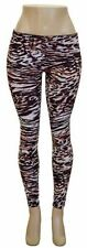 Women Stretch Skinny Multi Color Print Leggings Junior Size S/M- New with Tags