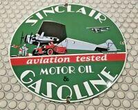 SINCLAIR GASOLINE PORCELAIN GAS OIL VINTAGE STYLE SERVICE STATION AUTO PUMP SIGN