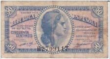 ESPAÑA: 50 CENTIMOS CERTI. PLATA (II REPUBLICA). AÑO 1937. CON SERIE. RC+. IDEAL