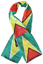 """Guyana Country Lightweight Flag Printed Knitted Style Scarf 8""""x60"""""""