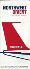 Northwest Orient Airlines system timetable 4/1/68 [0112]