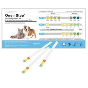 Dog Cat Kidney Disease Urine Test Kits Veterinary Pet Animal Tests One Step