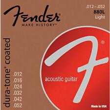 Fender 60l 0730880303 Acoustic Guitar Coated Ball End Strings 12-52