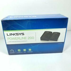 LINKSYS PLSK400-NP Powerline Adapter Expansion Kit 4 Port, 200 Mbps NEW Sealed