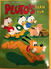 Vintage 1973 Pluto'S Farm Fun Walt Disney Golden Book