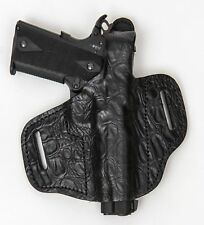 On Duty Conceal RH LH OWB Leather Gun Holster For Sig Sauer 1911 4 w/ Rails