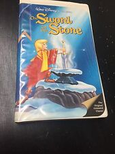 The Sword and the Stone (VHS) Walt Disney's Classic Black Diamond Dark Blue Used